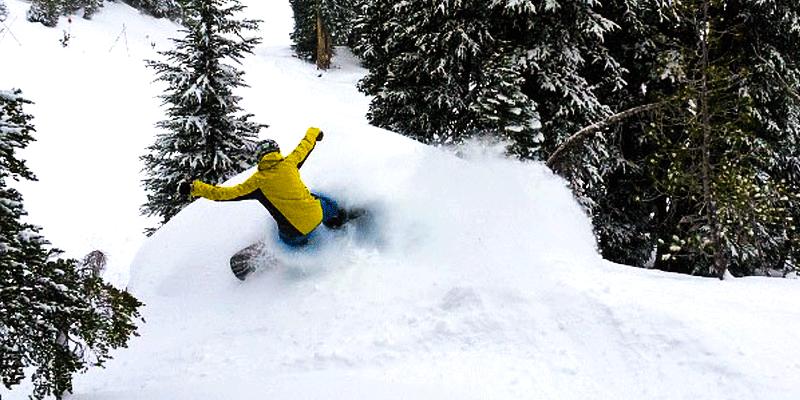Practice snowboarding